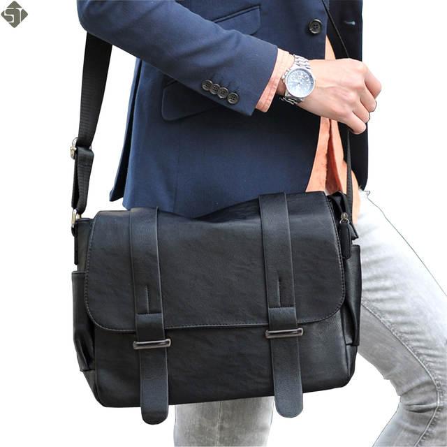 Online Shop Brand design Top PU Leather men bag deaf3548ca4dc