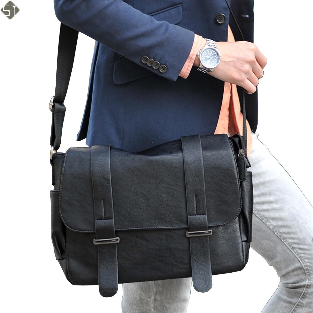 Brand design Top PU Leather men bag,casual business leather men messenger bag,vintage fashion men Shoulder bags Laptop bag