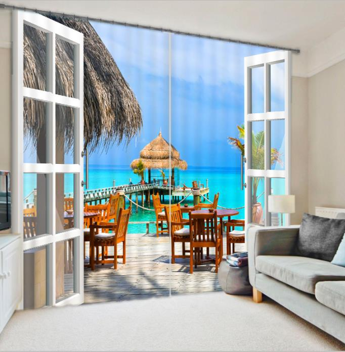 Fantasy 3D Photo Printing Blackout Window Curtains For Living room Bedding room  Hotel/Office Drapes Cortinas paraFantasy 3D Photo Printing Blackout Window Curtains For Living room Bedding room  Hotel/Office Drapes Cortinas para