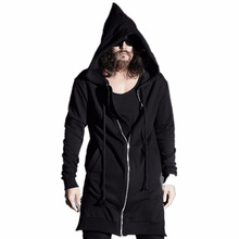 Sweatshirts Men 2017 HipHop Fashion Mens Zipper/Rope Design Hoody Hoodies High Street Male Black Assassins Creed Jacket KF-1460