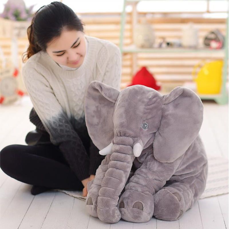 Cartoon 60cm Large Plush Elephant Toy Kids Sleeping Back Cushion stuffed Pillow Elephant Doll Baby Doll Birthday Gift for Kids  - buy with discount