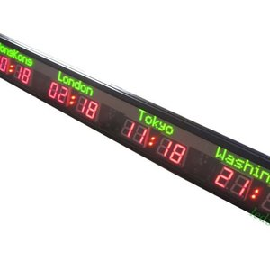 LED Wall Clock/Hotel time zone