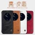 Frete grátis nillkin qin série wallet leather flip case para samsung s7 edge slot carteira estojo de couro