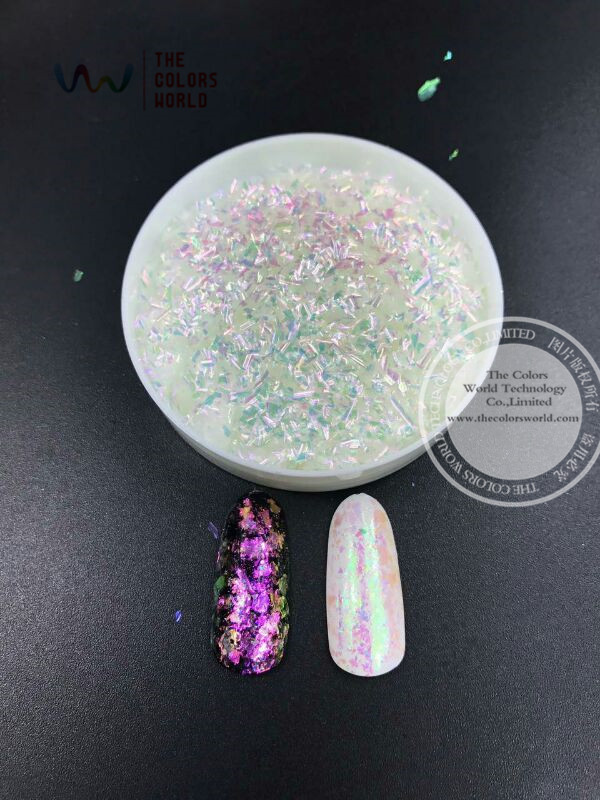 TCWB203 Chameleon Flakes Magic Effect Flakes large size chameleon  for nail Art  nail polish and  other DIY decoration корм tetra tetramin xl flakes complete food for larger tropical fish крупные хлопья для больших тропических рыб 10л 769946