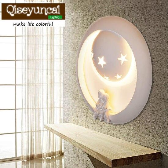 Qiseyuncai Childrens Room Cartoon Fairytale Castle Ceiling Lamp Creative Minimalist Bedroom Boy Girl Room Lighting Ceiling Lights & Fans Ceiling Lights