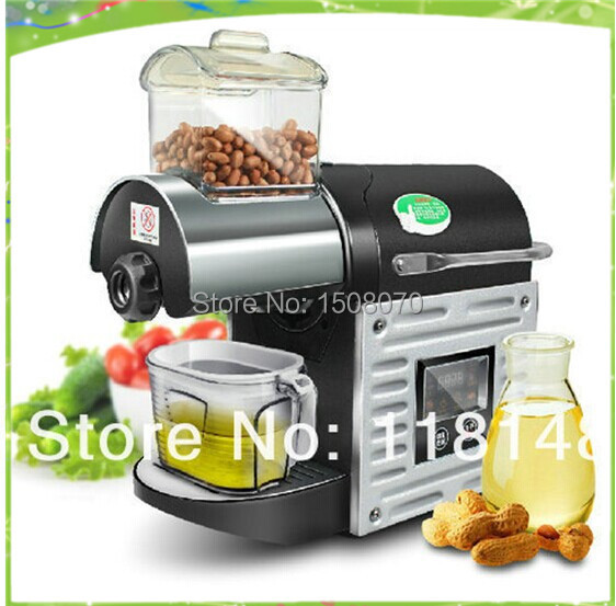 Big Discount  free shipping 220V home use Multifunctional walnut oil press hot peanut oil mill apple juicer fruit