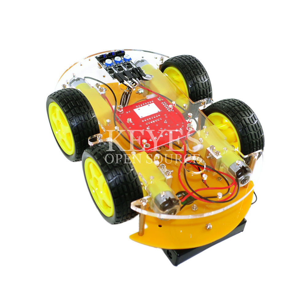 Multi-function Smart Car Kit Bluetooth Chassis Suit Tracking Compatible Uno R3 Diy Rc Electronic Toy Robot With 1602 Integrated Circuits Active Components