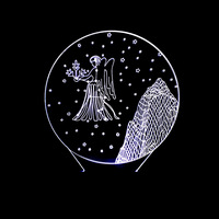 Novelty 3D Virgo Constellation Night Light Color Atmosphere Table Lamp Usb Bedroom Bedside Decor Gifts Star