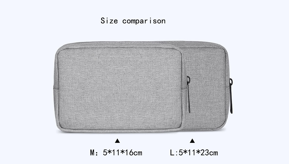 Travel Storage Portable Digital Accessories Gadget Devices Organizer USB Cable Charger Storage Case Travel Cable Organizer Bag (6)