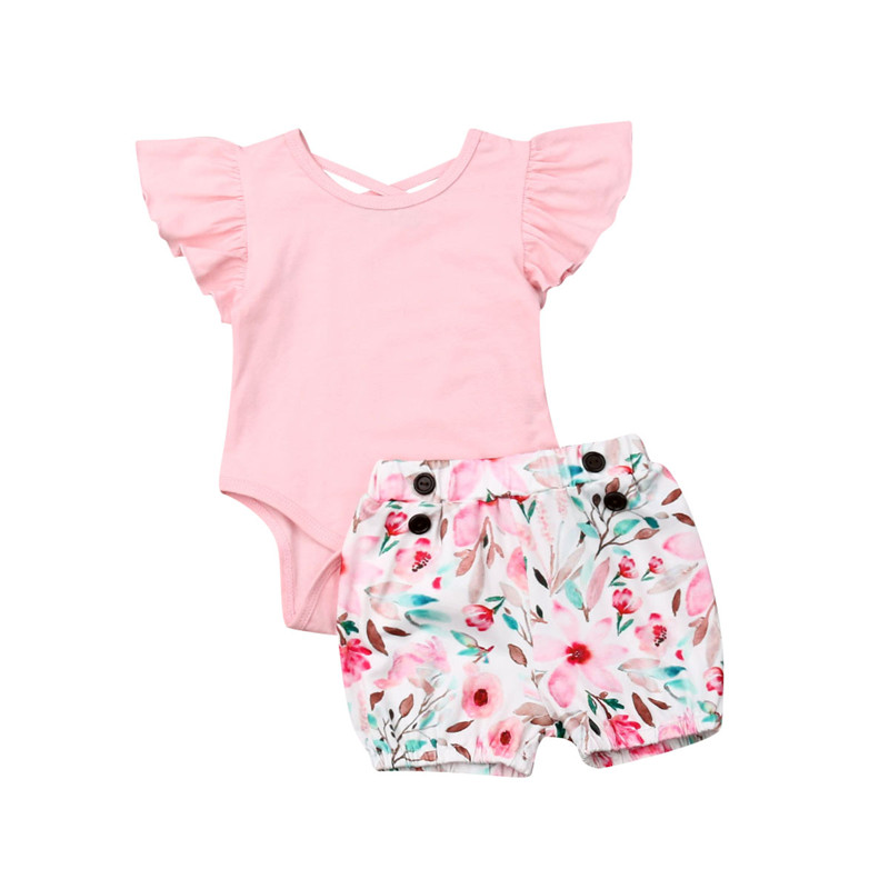 f974dd430615 Fashion Baby Clothes Set Bow Cotton Boys Girls Clothing Short Sleeve  T-shirt Tops Shorts Summer Newborn Baby Set Toddler Outfits
