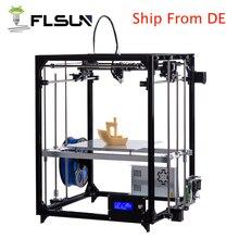 Flsun Cube 3D принтер металла Рамки широкоформатной печати Размеры DIY 3 D принтер комплект автоматическое выравнивание с подогревом и два рулоны нити