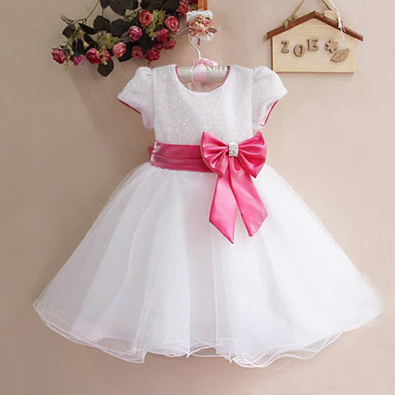 221c17b99632 Detail Feedback Questions about Sequined Bow Girl Party Wedding ...