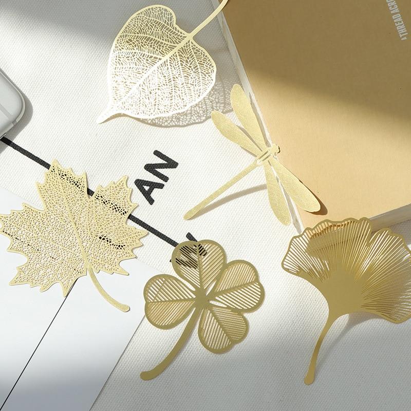 Cute Gift Leaf Bookmark / Fine Veined Brass Bookmark / Paulownia Leaf Bodhi Leaf Ginkgo Leaf Metal Hollow Bookmark
