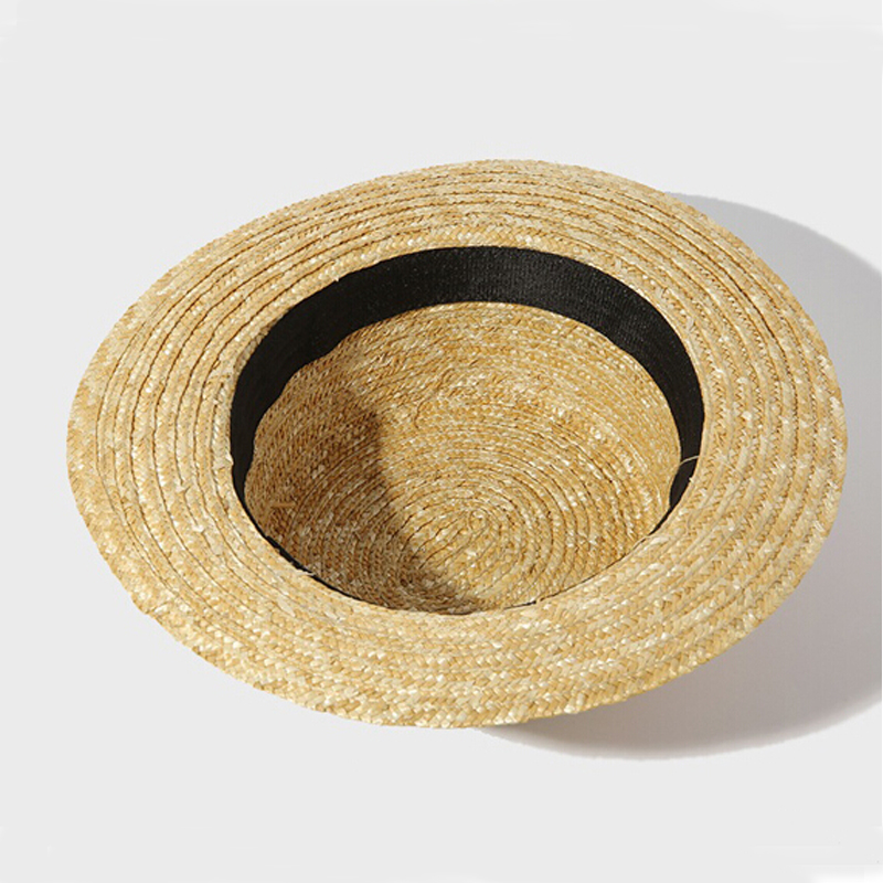 eb5d871d56f3b  Dexing summer trendy natural straw hat women boater hat beach sun hat for  women girl sun protection hat-in Sun Hats from Women s Clothing    Accessories on ...