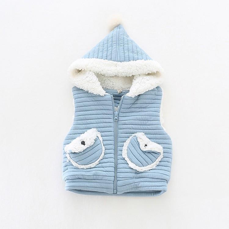 baby girl winter warm fleece vest jacket waistcoat hooded (10)