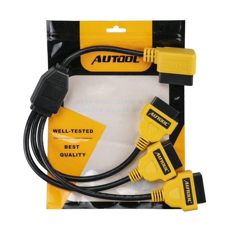 50cm OBD2 Cable 1 to 3 Converter Adapter OBD2 splitter Y Cable J1962M to 3-J1962F splitter OBD2 Extension Cable