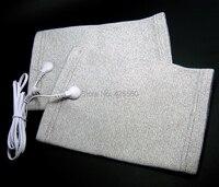 Geleidende Vezel Elektrode Kneepads Massage TIENTALLEN Kneepads Met Jack 2.5mm Elektrode Lood Draad Connector Kabel Gebruik Voor TIENTALLEN Eenheid