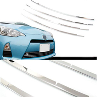 SUS304 Stainless Steel Grill Trim Lower Accesories Car Styling Cover For Toyota Prius C Aqua NHP10