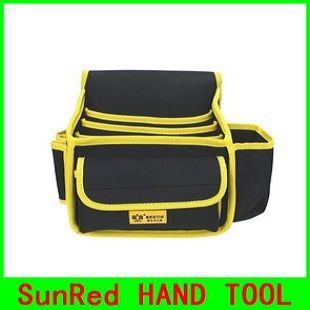 Self-Conscious Bestir 9-pocket Tool Pouch,waist Bag,universal Tools Bag Tool Parts Oxford Composite Material,no.05147,wholesale And Retail