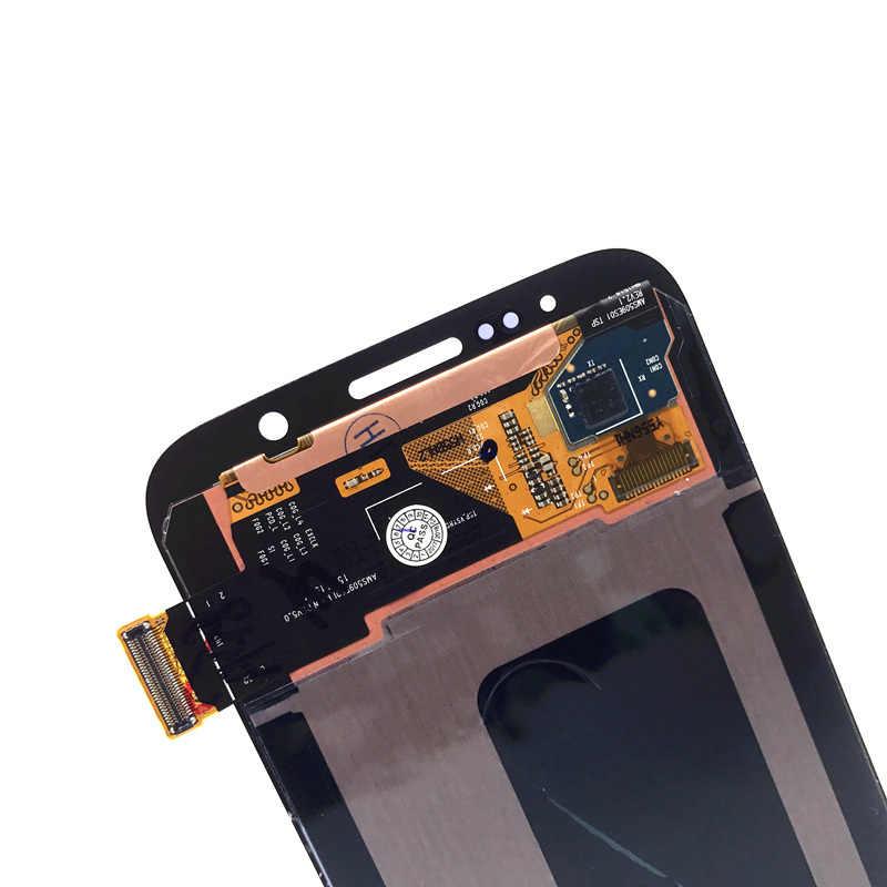 Pantalla LCD Super AMOLED de alta calidad para Samsung Galaxy S6 G920 G920F LCDS con reemplazo de montaje de digitalizador de pantalla táctil