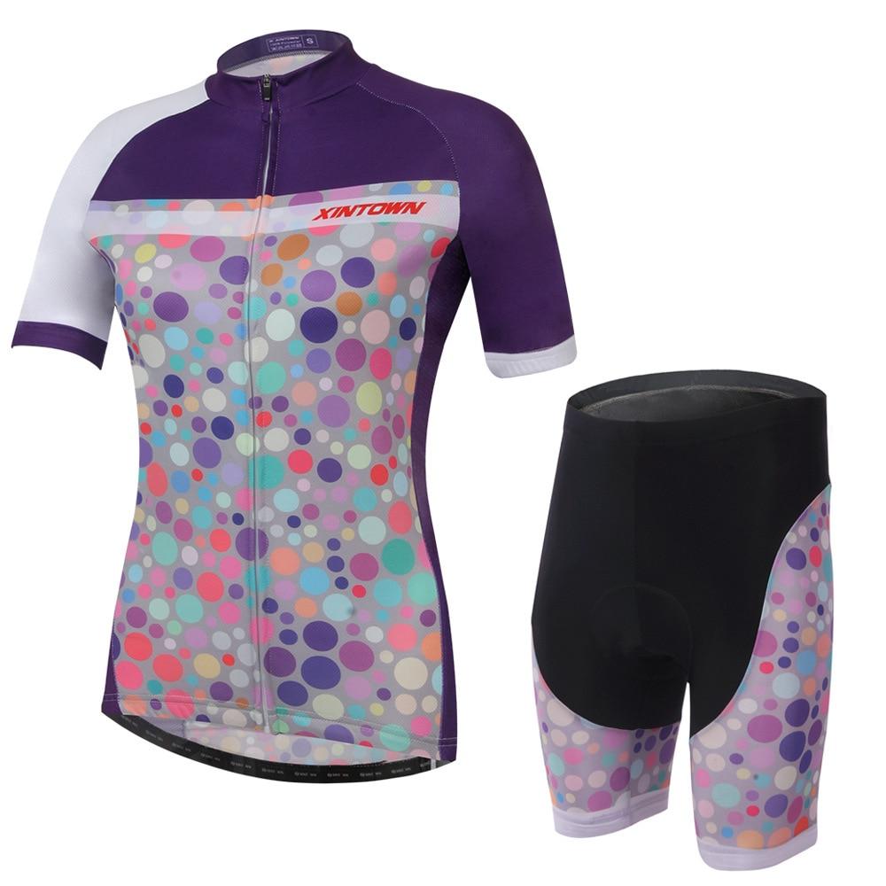 XINTOWN Zilan езда передач костюм с коротким рукавом Велосипеды женские костюмы летние пота влаги быстросохнущие одежда Штаны