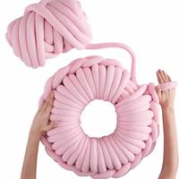 40*40CM Nordic Style Nap Pillow Home Pillow OHCIO Hand woven Cushion Core Yarn Donuts Shape Pillow Home House Accessory