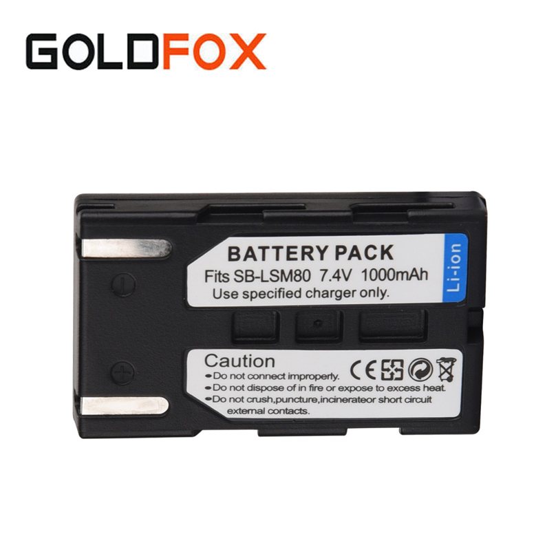 1000mAh SB-LSM80 Camera Repalcement Spare Battery For Samsung VP-DC161 VP-DC163 VP-DC165WB VP-DC565WBi VP-DC563i SC-D351 SC-D353