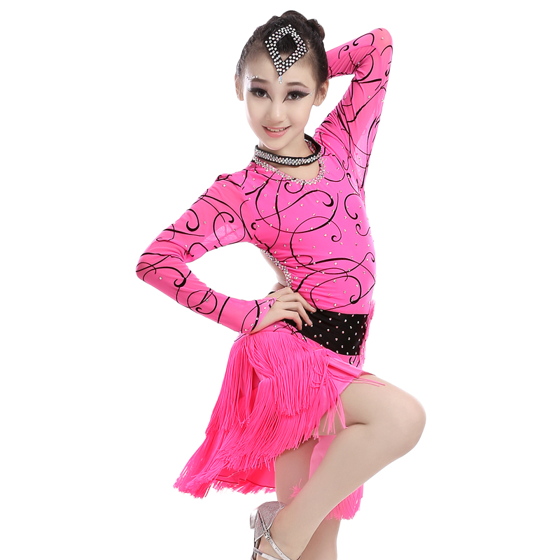 Kids Dance Costumes Practice/Competition Sexy Open Back Dance Wear ...