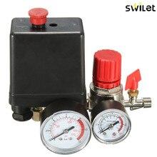 אוויר מדחס שסתום לחץ מתג סעפת הקלה רגולטור מחוונים 7.25 125 PSI 240V 15A פופולרי