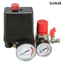 Air Compressor Pressure Valve Switch Manifold Relief Regulator Gauges 7 25 125 PSI 240V 15A Popular