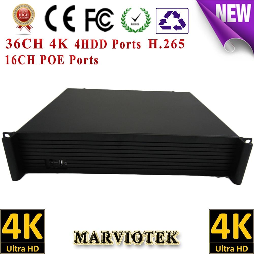 36CH 8MP 4K CCTV 16CH POE NVR record IP Camera 4 HDD Ports surveillance NVR HDMI VGA output Support Onvif/P2P Goolink 16ch poe nvr 1080p 1 5u onvif poe network 16poe port recording hdmi vga p2p pc