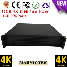 36CH nvr poe 4K HDMI nvr 16ch poe ports nvr onvif VGA 8MP nvrs ip camera 4HDD video surveillance nvr recorder Goolink P2P