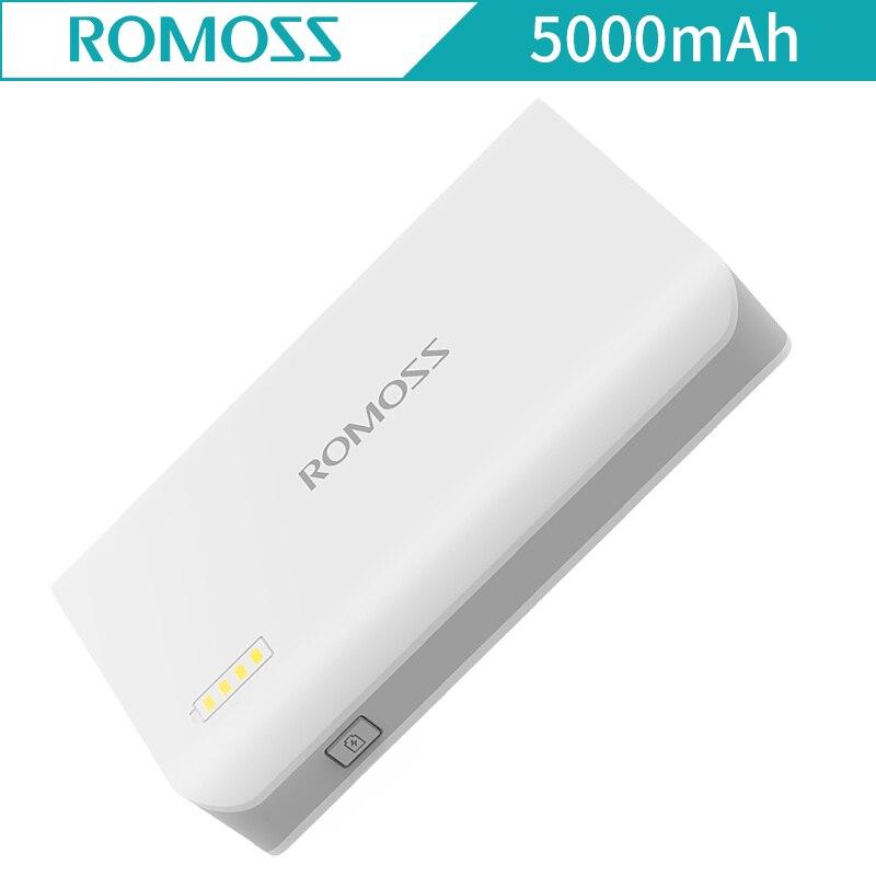 Romoss Sense 2 S 5000 мАч 5 В/2.1A внешний Батарея светодиодный фонарик Мощность банка для iPhone Samsung Xiaomi power Bank Батарея pack