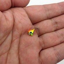 Winter Ice Fishing Hook Lure Mini Metal Bait Fish  6Pcs 15mm/1.1g Lead Head Hook Bait Jigging Fishing Tackle