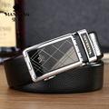 Manbang Brand Designer men belts Copper Buckle Genuine Leather Cowskin Belt Luxury Male Strap black MBP0026YS