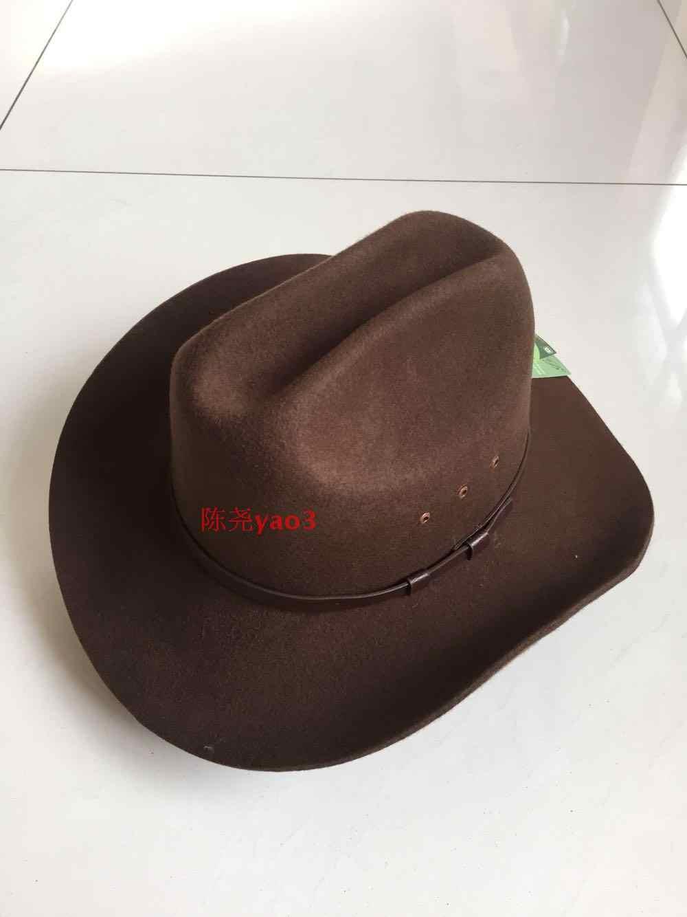 MINGZUO Chapeau de Cowboy Texan Adulte Brun D/éguisement Accessoire de f/ête Pays Western Rancher