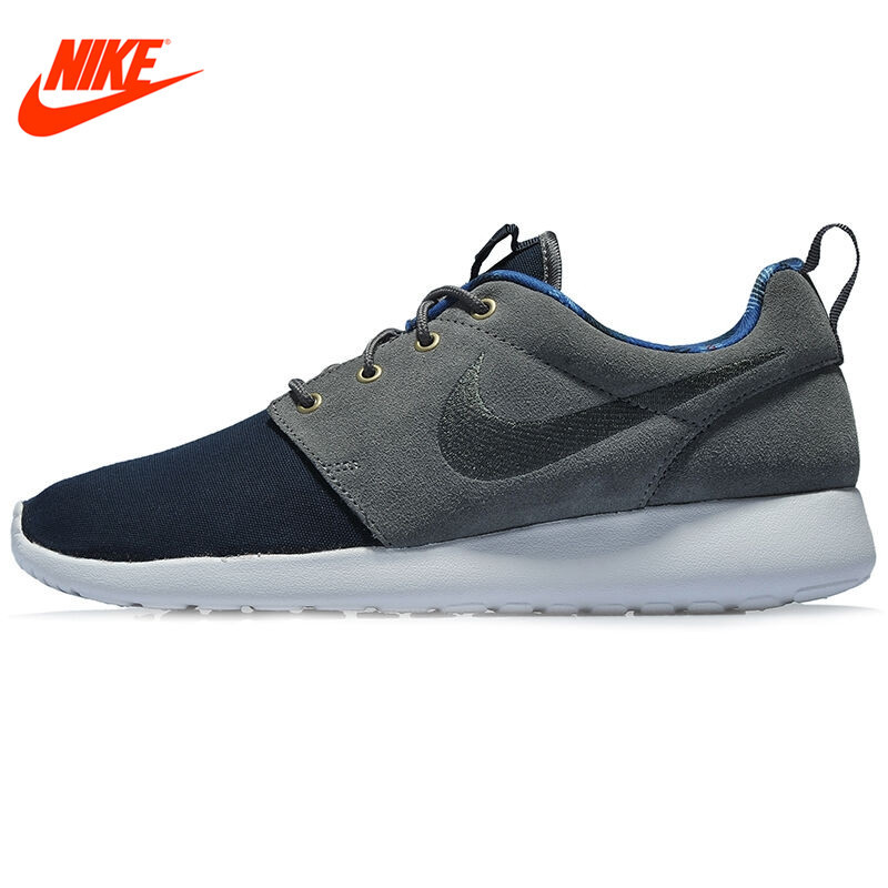 Spring New Arrival Original NIKE ROSHE ONE PREMIUM Mens Running Shoes Sneakers Red and Grey