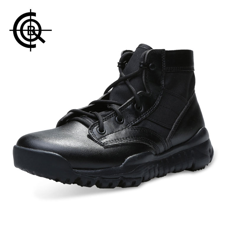 CQB Outdoor Hiking Shoes Combat Tactical Boots Walking Men Climbing Shoe Mountain Non-slip Breathable Hunting SFB Sneake SL00193