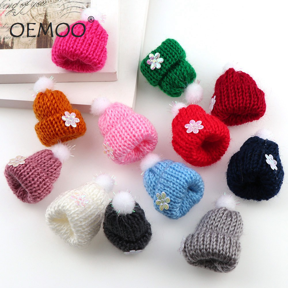 10pcs  Felt  Christmas Hat Balls  Multicolors Flocking Ball Wool Balls For Diy 30*45mm  Garland Home Decoration Wool Ball F