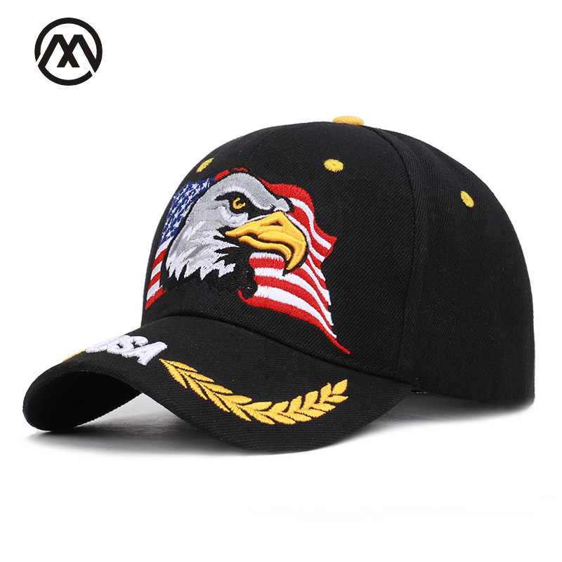 Animal Eagle Embroidered   Baseball     Caps   USA Flag Men's Ms. Universal Adjustable High Quality Outdoor Shade Dad Truck Driver Hats