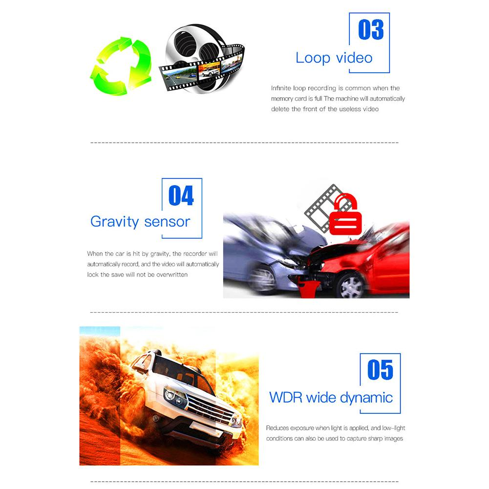 Image 5 - Car DVR Camera Recorder 2 In 1 Driving Recorder Anti Laser Car Radar Detector 140 Degree HD 720P Support English Russian-in DVR/Dash Camera from Automobiles & Motorcycles