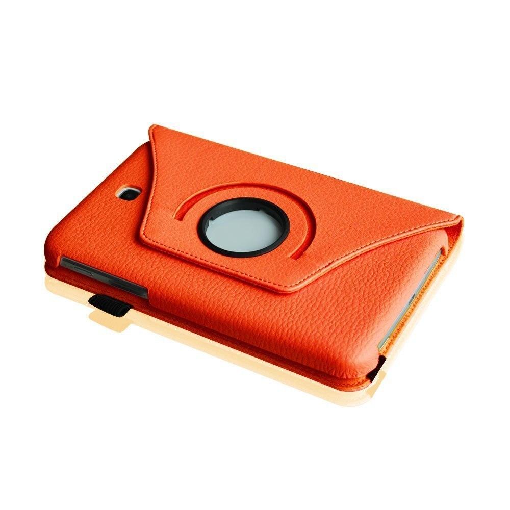 Novi Fanshion 360 vrtljivi PU usnjena torbica za Samsung Galaxy Tab 3 - Dodatki za tablične računalnike - Fotografija 4