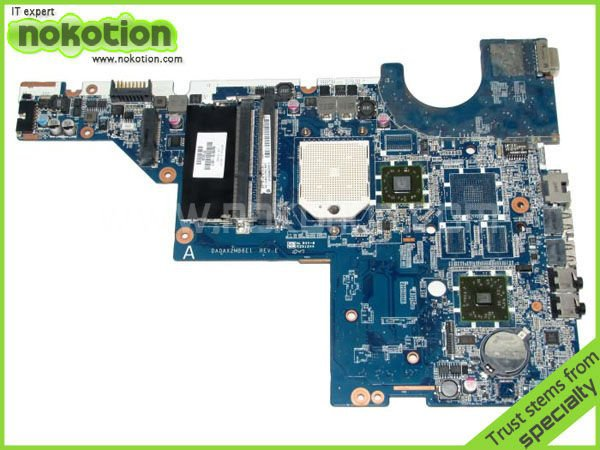NOKOTION 623915-001 Laptop motherboard for HP CQ56 RS880M+SB820 UMA DDR3 free shipping 595698 001 for hp 8740p 8740w laptop motherboard ddr3 free shipping 100