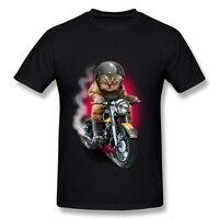 Baratos Por Atacado dos homens Pré-cotton hellrider motorcycle racer camiseta Latest O Pescoço camiseta para Homens