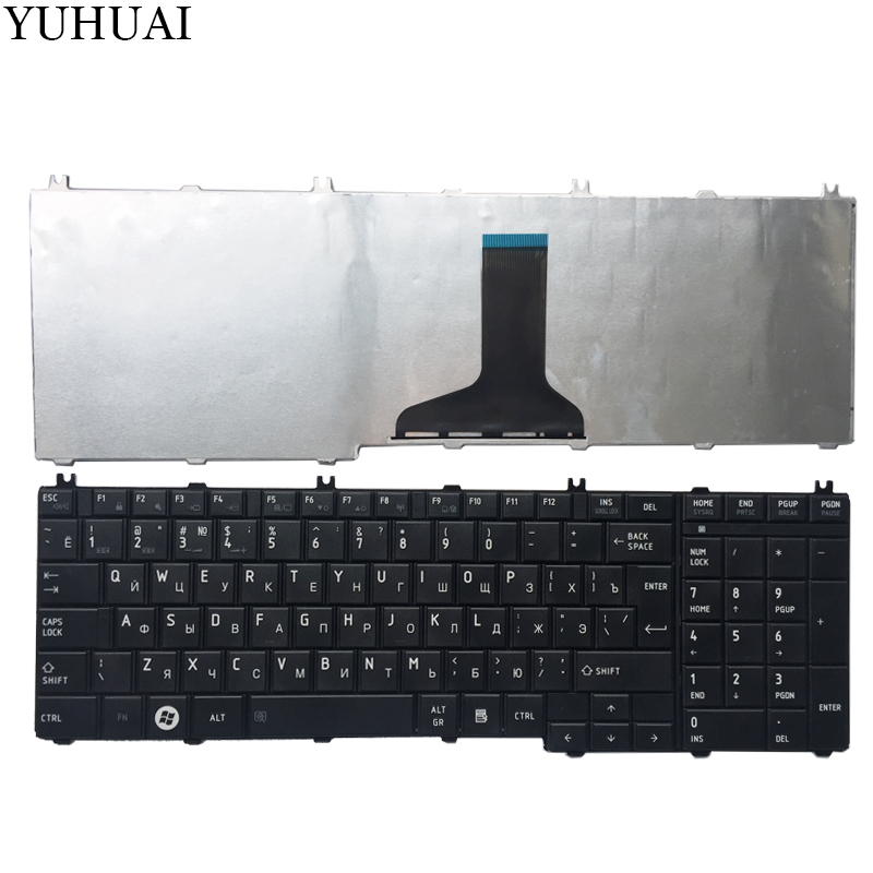 NEW Russian Laptop Keyboard For Toshiba Satellite L655 L655D C655 C655D C660 C660D C650D L650 C670 L650D L755  RU Keyboard Black