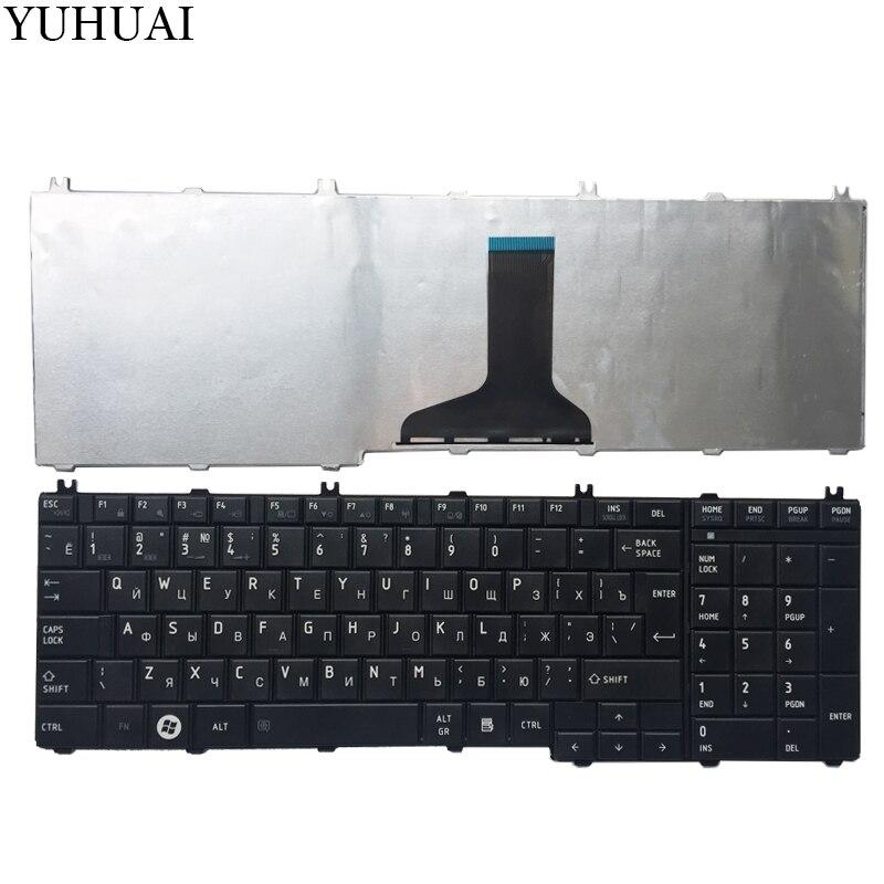 NEW Russo Teclado do portátil para Toshiba Satellite L655 L655D C655 C655D C660 C660D C650D L650 C670 L650D L755 RU Teclado preto