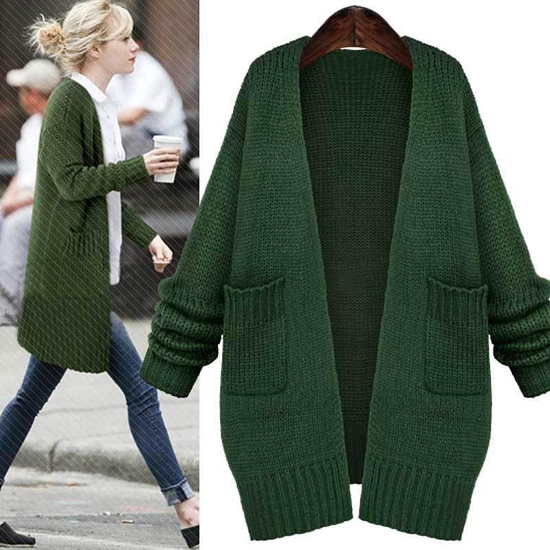 Womens Long Black Sweater Coat