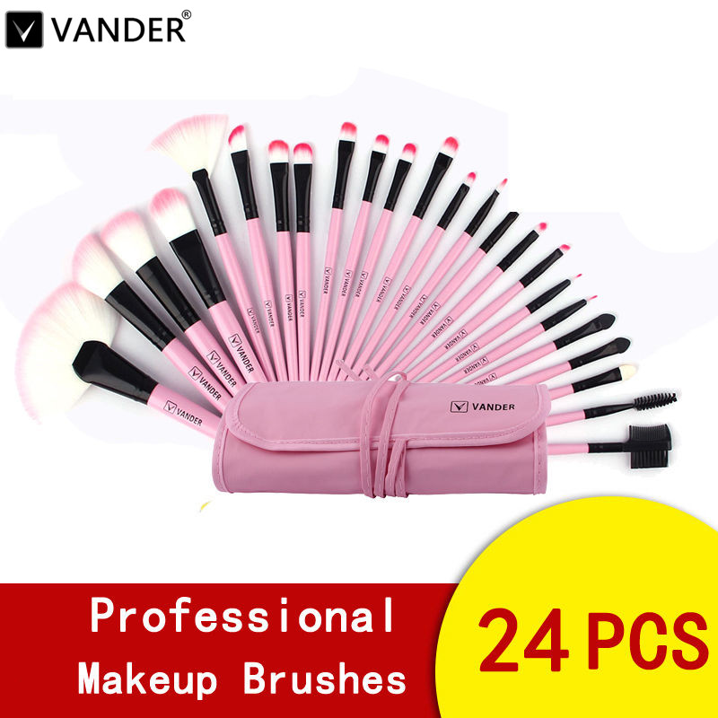 VANDER 24pcs MULTIPURPOSE Makeup Brushes Set Professional Foundation Powder Tooth Brush Make Up Beauty Tools pincel maquiagem 24 pcs professional makeup brushes beauty woman s kabuki cosmetic makeup brush set tools foundation brush pincel de maquiagem