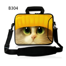 Yellow Cute Cat 12 13 14 15 17 Inch Laptop Laptop computer Delicate Pocket book Pill Bag Luggage Case Messenger Shoulder unisex males girls