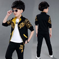 Boys Clothing Sets 2016 Spring Autumn Cotton Print Tracksuits Fashion Sport Casual Children's Clothing Suits